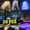 LOT 30cm 144 LED Lights 8 Tubes Meteor Shower Rain Snowfall Tree Garden XMAS JJ