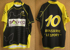 Maillot rugby Fc Trie sur baise #10 Solveo Brasserie le Sport jersey - XL