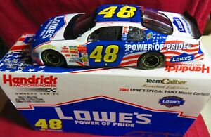 JIMMIE JOHNSON, 1/24 2002 TC OWNER SERIES, #48, LOWE'S POWER OF PRIDE, ROOKIE