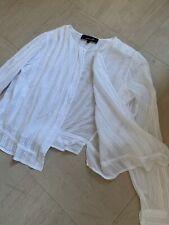Isabel Marant White Cotton Shirt Blouse Boho Pinstripe Pleated Guipire French