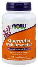 Now Foods Quercetin with Bromelain 120 Veg Capsules Healthy Immune 02/2023EXP