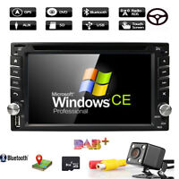 Double 2 DIN 6.2'' Car Stereo Radio DVD Player GPS Navigation DAB+ Bluetooth SWC