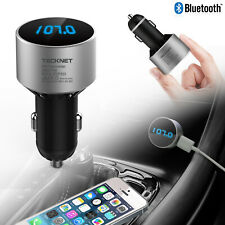 Bluetooth 4.0 Wireless FM Transmitter Radio Car Music Player USB Charger Kits UK