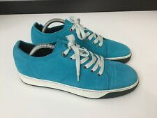 Lanvin Mens Shoes Trainers Pumps Bright Blue Nubuck Leather Size Uk 5 Eu 39