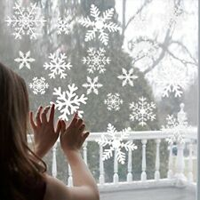 White Snowflake Sticker Decoration Glass Window Kids Room Christmas Wall Sticker