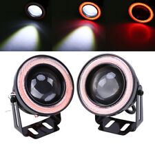 "2pcs 3.5"" COB LED Fog Light Projector Car Red Angel Eye Halo Ring DRL Lamp"