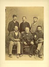 Grande Photo Albuminé Portrait de 6 Hommes Vers 1870/80
