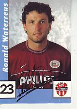 FOOTBALL carte joueur RONALD WATERREUS équipe PSV EINDHOVEN signée au dos