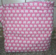 POTTERY BARN KIDS Pink White ELEPHANT Full Queen DUVET COVER Bedding