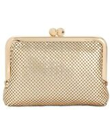 INC International Concepts Penny Metal Mesh Coin Purse, Gold $40