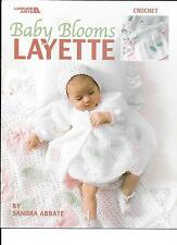 CROCHET PATTERNS - BABY BLOOMS LAYETTE  COAT,DRESS,BONNET BOOTIES AFGHAN