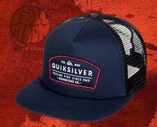 New Quiksilver Men's Reeder Navy Snapback Trucker Cap Hat