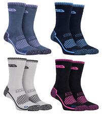 Storm Bloc - 2 Pack Womens Cushioned Heavy Duty Cotton Hiking Boot Crew Socks