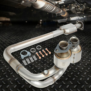 FOR 04-06 JEEP WRANGLER 4.0L PERFORMANCE CATALYTIC CONVERTER EXHAUST Y-PIPE KIT