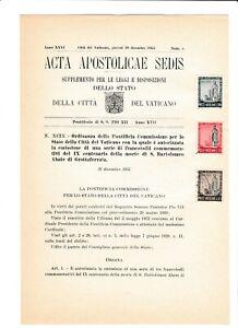 s39535 VATICANO ACTA APOSTLICAE SEDIS 29 12 1955 San Bartolomeo