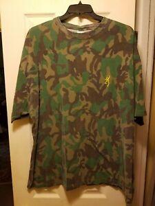 Rare Men's Browning Camo Short Sleeve  Buckmark T-Shirt - XL