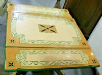 Vintage Porcelain Enamel Top Kitchen Table - Expandable - Beautiful Design