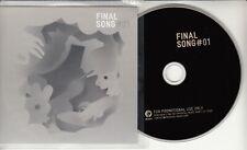 Final Song #01 German 13-track promo CD Radiohead Beach Boys Cerrone Brian Eno