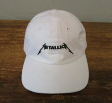 VINTAGE METALLICA 1990s 1980s Mens White Cotton Baseball Hat Cap METAL ROCK TOUR