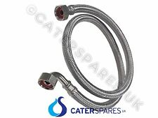 """1/2"""" BSP 1 METRI flessibile acciaio inossidabile intrecciato tubo dell'acqua di alimentazione alimentazione lungo 1 M"""