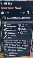 M1918 BAR- State of Decay 2, Xbox One *Rare In-Game Weapon*