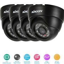 4PCS KKMOON 1200TVL CCTV Security Dome Camera Night Vision Black 24*IR-LED G3K9