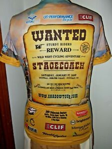 VOLER 2009 Spring Stagecoach Century Cycling Jersey Small Wild West clif bar