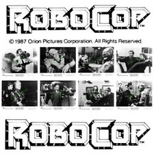 Robocop Original Vintage Glossy Black and White Promotional 10x8 Photographs