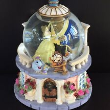 Disney Store Beauty & The Beast Musical Princess Snowglobe Belle Beast Ballroom