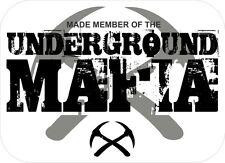3 - Underground Mafia Made Member Coal Mining Hard Hat Stickers H558