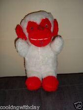 VINTAGE ANIMAL TOYS PLUS VINTAGE PLUSH MONKEY RED & WHITE DOLL FIGURE