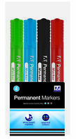 Coloured Permanent White Board Marker Set 4-Pack