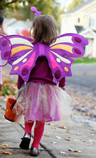 NWT POTTERY BARN KIDS PURPLE Butterfly Tutu Costume 12-24 MONTHS & TREAT BAG