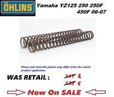 Yamaha YZ125 250 250F 450F 06 07 Ohlins front fork spring kit