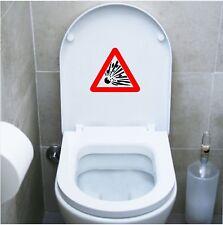 wall stickers adesivo wc pericolo esplosione dangerous bagno water toilette