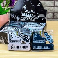 3pcs/set Musical Piano Notes Rubber Pencil Eraser School Student Supplies Gifts