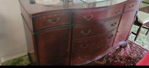 Vintage Henkel Harris Mahogany Buffet Side Table #145