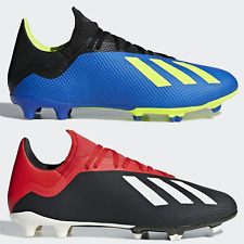 adidas X 18.3 FG Mens Football Boots Firm Ground Blue Black Red SIZE 6 8 9 10