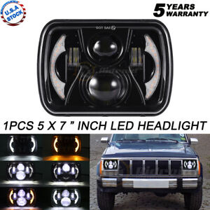 """Newest 120W 7X6"""" 5X7"""" Sealed LED Headlight DRL For Jeep Cherokee XJ Chevrolet H4"""