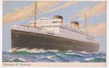 Cunard M.V. Britannic Shipping Art Postcard B616