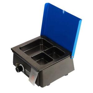 Dental Lab 3-Well Wax Heater Melter Analog Dipping Pot Equipment Melting UK SALE