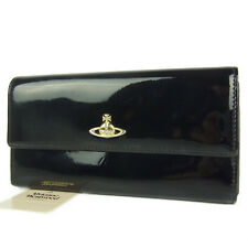 Auth Vivienne Westwood Apollo Orb Leather Bifold Long Wallet F/S 2067