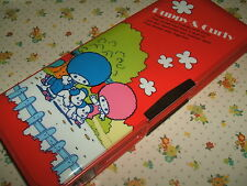 Vintage 1980s Stationery - Venice Puppy & Curly Magnetic Pencil Case