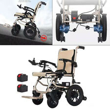 Lightweight Folding Electric Power Wheelchair Medical Mobility Aid Motorized New