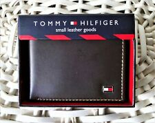 Men's Leather Wallet'Tommy Hilfiger' Bifold, BROWN, Coin Pouch, MRP £59, SALE