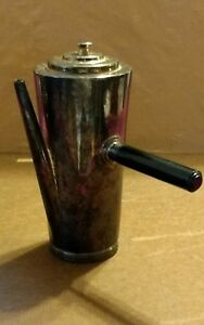 Vintage Coffee Server Pot with Bakelite Side Handle Silver Plated