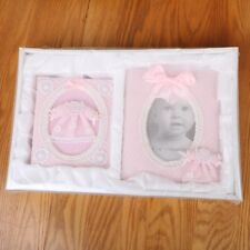 """Pink Baby Girl Baby King Photo Album and Frame Set 4"""" x 6"""""""