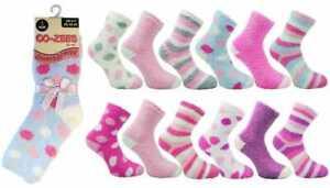 Ladies/Girls Luxury Soft Fluffy Warm Bed Socks Sleep Lounge CoZees One Size 4-8