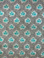 Green/Gold Brocade Fabric Material 112cm Wide Weddings, Interiors, Sewing, Craft