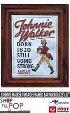 """Johnnie Walker Vintage Bar Mirror 1960's Exc' Co' 23x17"""" Scotland man cave"""